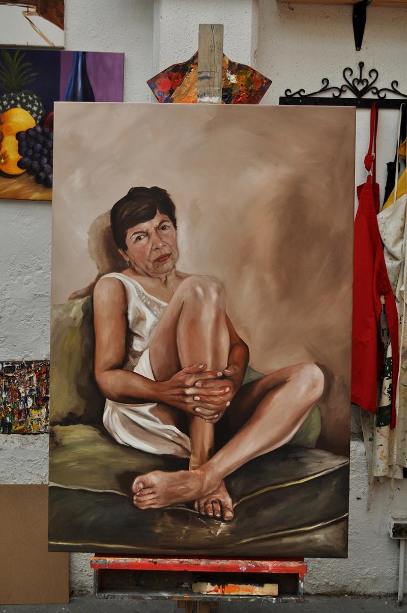 Alicia óleo 80 x 120 cm.