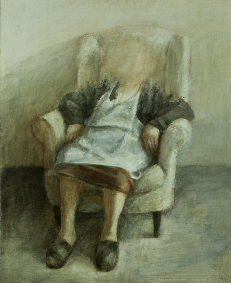 ''Alzheimer'' Óleo sobre tela entablada 100 x 81 cm 2011