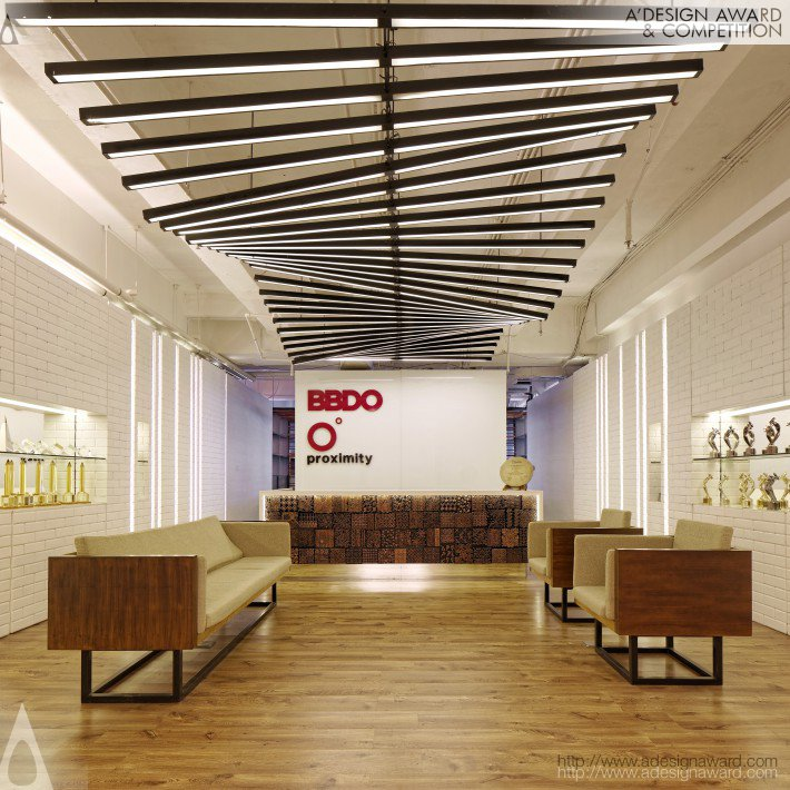 Bbdo Indonesia Función: decoración de espacio. Diseño: Delution Architect.