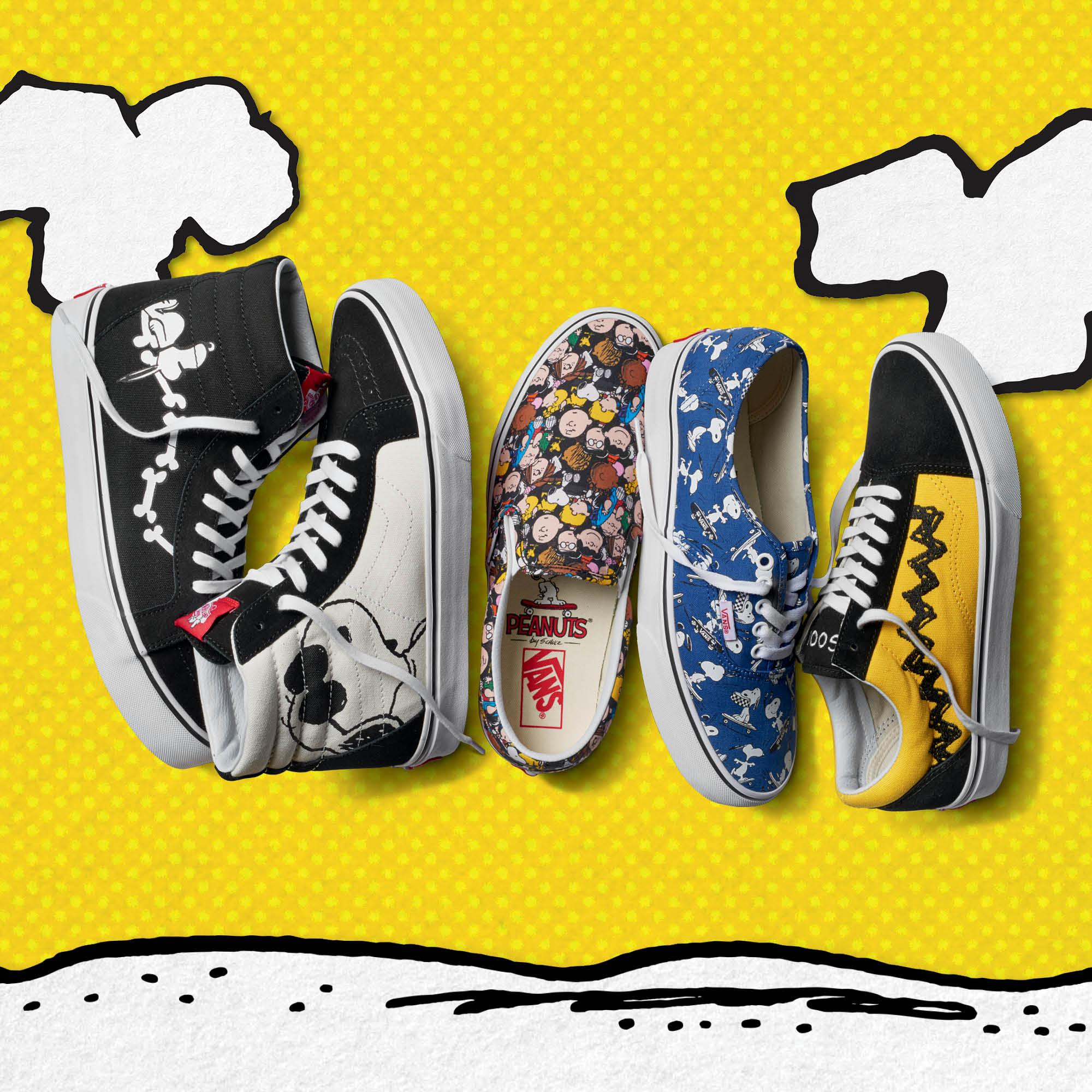 3fe893093 El authentic cuenta con una impresión exclusiva para Vans que muestra a  Snoopy patinando en varias posiciones. Además